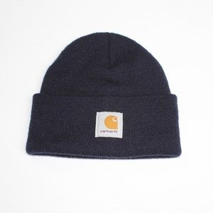 Carhartt Logo Dark Navy Beanie Skull Cap Hat